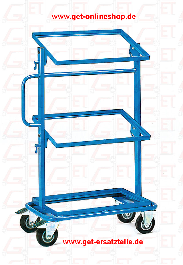 32910_Beistellwagen_Fetra_GET, Werkstattwagen, Werkzeugkasten, Zurrgurt, Plattenständer