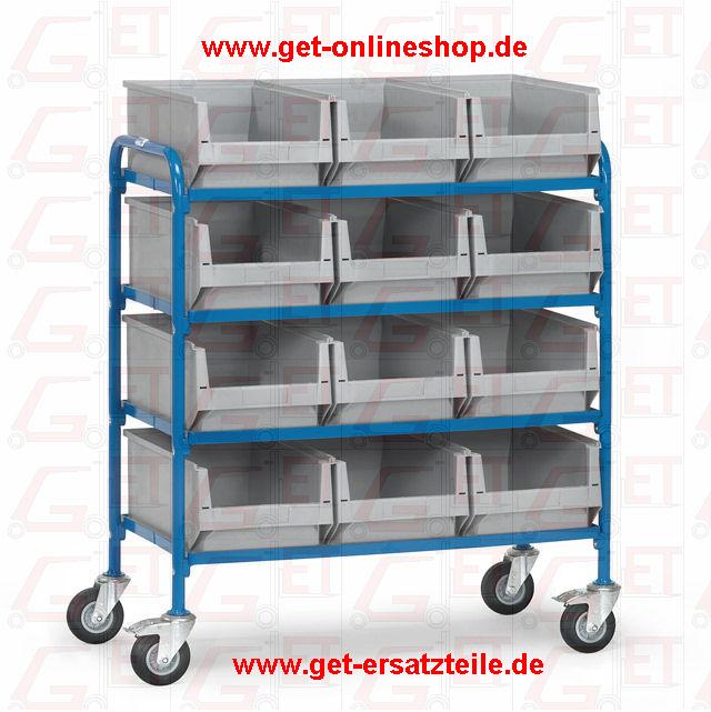 32941_Beistellwagen_Fetra_GET, Etagenwagen, Kommissionierwagen, ESD-Wagen, Bürowagen, Servierwagen, Kastenwagen