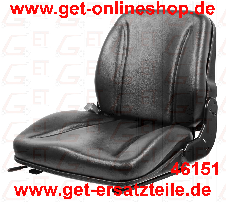 4651-Fahrersitz GET20PVC mit Sitzschalter für Gabelstapler, Baumaschinen und Traktoren