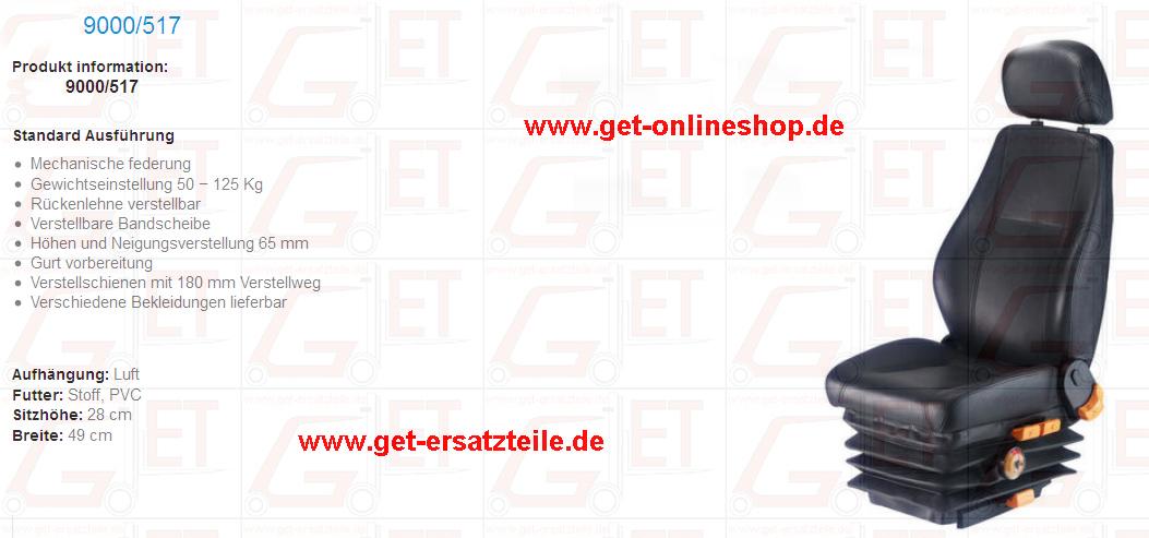Schleppersitz, Traktorsitz, Staplersitz, Thüringen, Bad Berka, Ersatzteile, Zubehör, günstig, Onlineshop