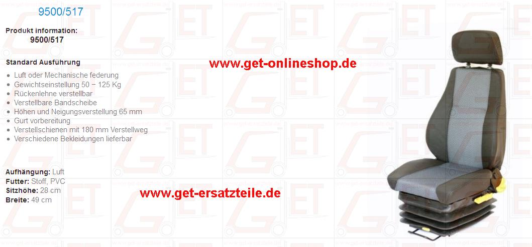 Staplersitz, Onlineshop, Bad Berka, Kabinenteile, Motorteile, Schlepper, Kehrmaschinen