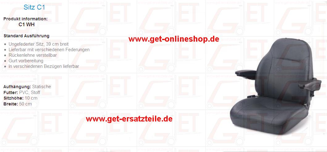 Fahrersitze von GET Gabelstapler – Ersatzteile & Transportgeräte 99438 Bad Berka Thüringen