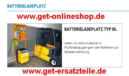 Batterieladeplatz – Anbaugeräte für Gabelstapler, Baumaschinen (Radlader), usw. von GET.