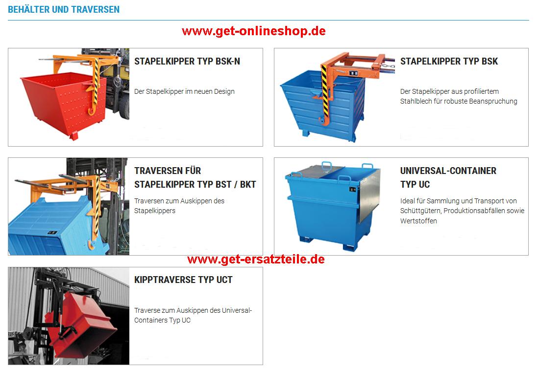 Anbaugeräte für Gabelstapler, Baumaschinen (Radlader), usw. von GET.