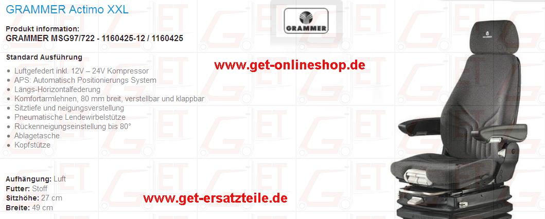 Fahrersitzkissen, KAB211, Zubehör, Onlineshop, Staplersitz, PVC, GET Bad Berka, Beckengurt, Ersatzteile