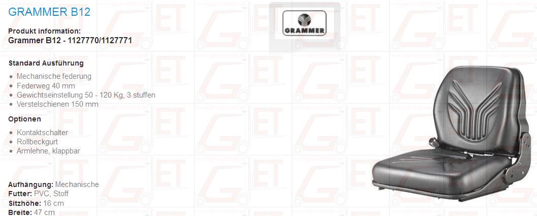 geeignet für, Fenwick, Linde, Steinbock, Hyster, Clark, Jungheinrich, Stoff PVC Fahrersitz GET Gabelstapler-Ersatzteile