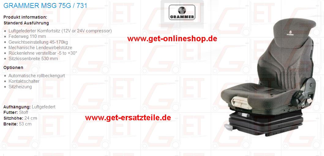 Kontaktschalter, Sitzheizung, Fahrersitz von GET Gabelstapler-Ersatzteile & Transportgeräte Bad Berka