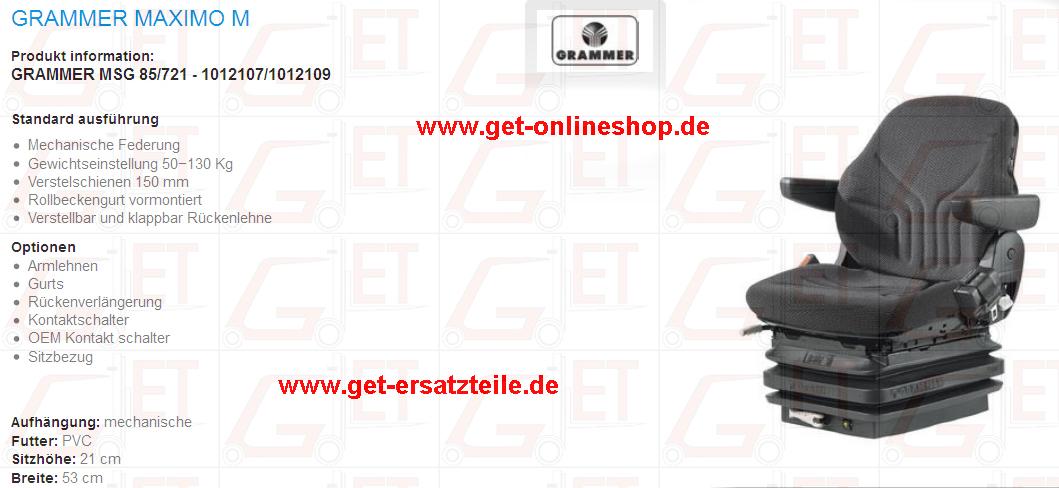 Staplersitz, Sitz für Baumschine, Fahrersitz_GET_Gabelstapler_Ersatzteile