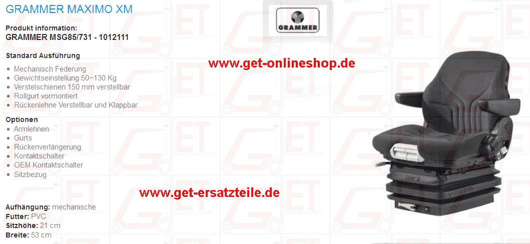 Grammer_Maximo_XM_MSG85_731_1012111_Fahrersitz_GET_Gabelstapler_Ersatzteile