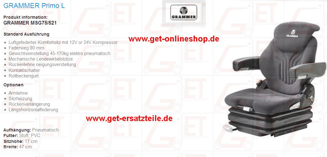 Fahrersitz, Sitzkissen, Sitzgurt, Rückenpolster, Beckengurt, Gurt Fahrersitz, Gabelstapler, PVC, Stoff, Armlehne