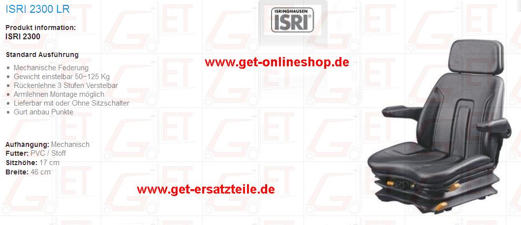 IStaplersitz, Gabelstapler, Fahrersitz GET Gabelstapler-Ersatzteile