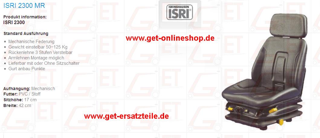 Staplersitz, Sitz, Armlehne, Grammer, BEGE, Fahrersitz GET Gabelstapler-Ersatzteile