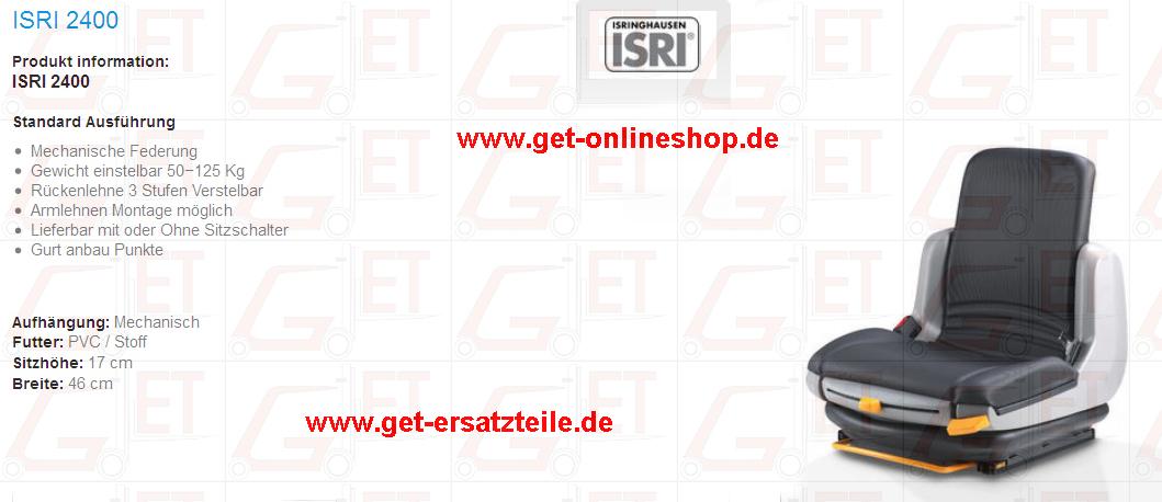 ISRI, Grammer, KAB, BEGE, Fahrersitze von GET Gabelstapler_Ersatzteile